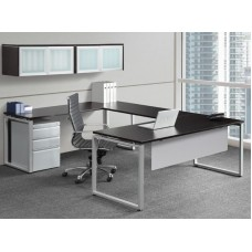 Elements Plus U Shape Desk with Hutch