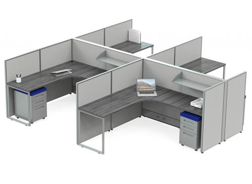 RSI EZ Cubicle Typical Workstation B