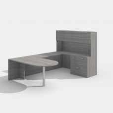 Laminate Desk Workstation Style E