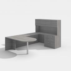 Laminate Desk Workstation Style E