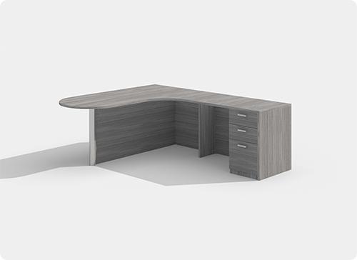 Laminate Desk Workstation Style D