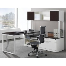 Elements Plus L Shape Desk with Hutch