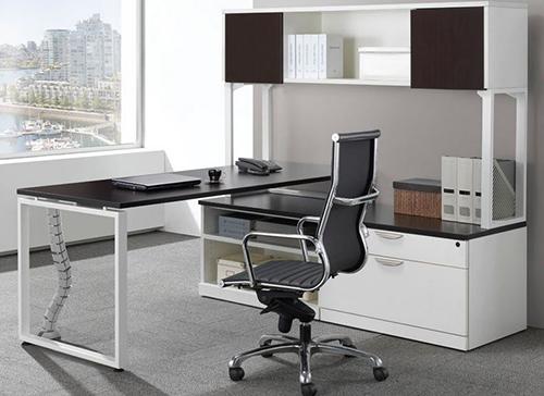 Elements Plus L Shape Desk with Hutch