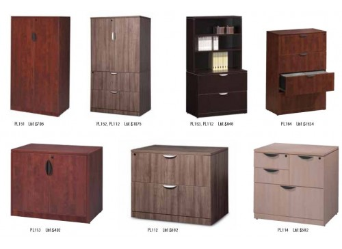 Laminate Lateral & Storage Filing Cabinets